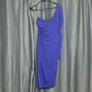 bebe Kardashians blue dress